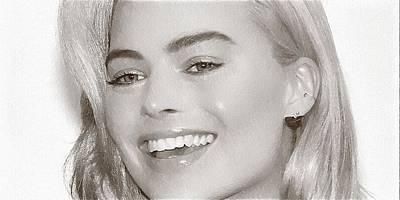 Grace Kelly Digital Art - Celebrity Margot Robbie by Best Actors
