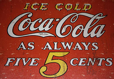 Mixed Media - 5 Cent Coca Cola by David Millenheft