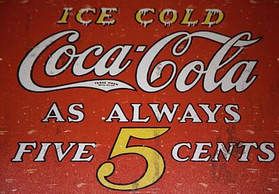 Mixed Media - 5 Cent Coca Cola by David Millenheft
