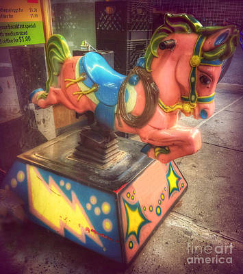 Photograph - 5 Cents A Ride - Bucking Bronco by Miriam Danar