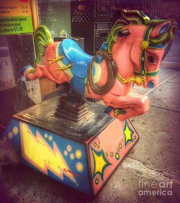 Photograph - 5 Cents A Ride - Bucking Bronco by Miriam Danar