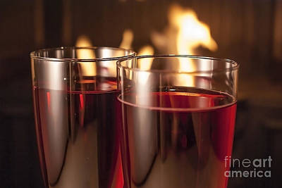 Wine Glass Photograph - Champagne Glasses by Sebastien Coell