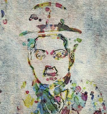 Thriller Digital Art - Charlie Chaplin Hollywood Legend by Mary Bassett