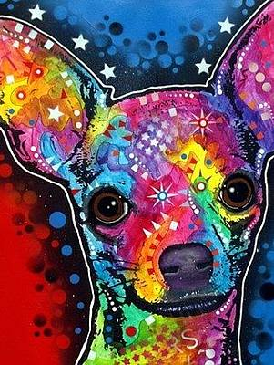 Dog Portrait Mixed Media - Chihuahua by Dean Russo