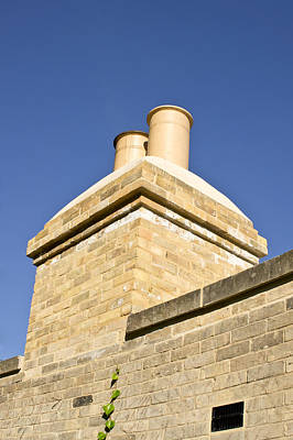 Red Roof Photograph - Chimney by Tom Gowanlock