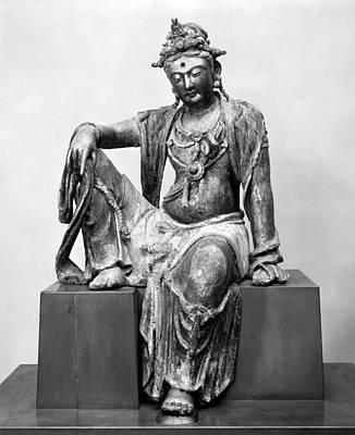 Wood Necklace Photograph - China: Bodhisattva by Granger