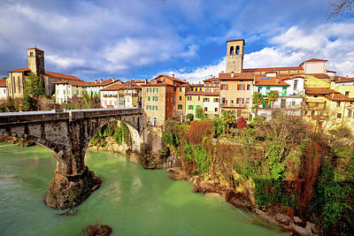 Photograph - Cividale Del Friuli Devil's Bridge And Natisone River Canyon Pan by Brch Photography