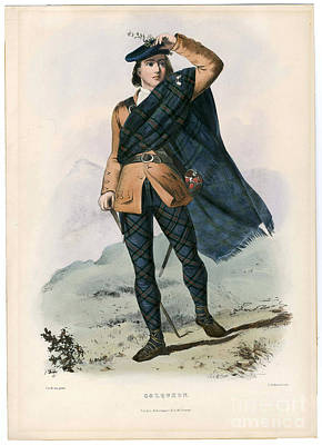 The Clan Painting - Clans Of The Scottish Highlands 1847 by MotionAge Designs