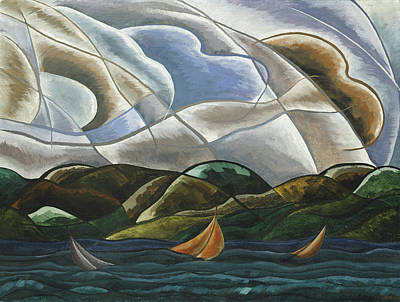 Birds Rights Managed Images - Clouds and Water Royalty-Free Image by Arthur Dove