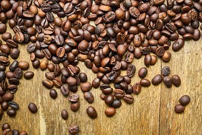 Photograph - Coffee Beans by Tilen Hrovatic