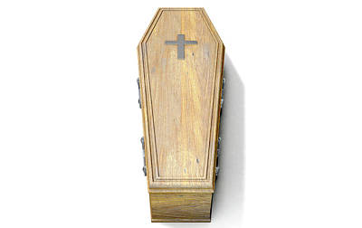 Funeral Digital Art - Coffin And Crucifix by Allan Swart