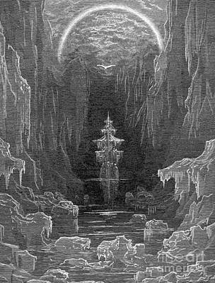 Animals Drawings - Ancient Mariner by Gustave Dore