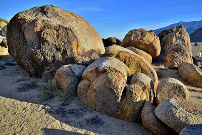 Photograph - Colorful Boulders Of The Alabama Hills by Ray Mathis