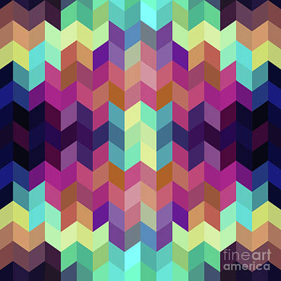 Royalty-Free and Rights-Managed Images - Colorful Geometric Background by Amir Faysal