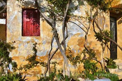Painting - Colorful House In Plaka by George Atsametakis