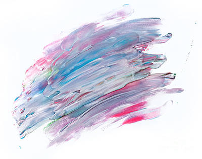 Pattern Photograph - Colorful Watercolor Paint On White Canvas. Super High Resolution And Quality by Michal Bednarek