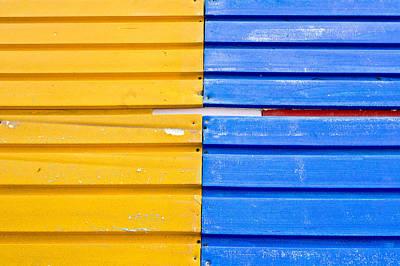 Colorful Wood Art Print by Tom Gowanlock