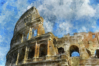 Colliseum Photograph - Colosseum In Rome, Italy  by Brandon Bourdages