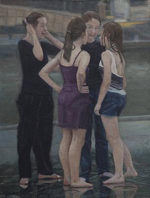 Painting - Conversation by Masami Iida