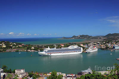 Photograph - Cruise Ship In Port by Gary Wonning