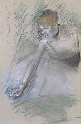 Pastel - Dancer by Edgar Degas