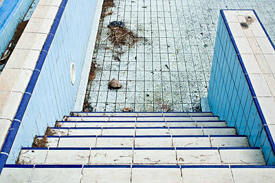 Derelict Swimming Pool Art Print by Tom Gowanlock