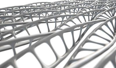 Biochemistry Digital Art - Dna Strand Micro by Allan Swart