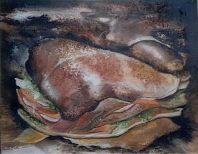 Sandwich Mixed Media - 5 Dollar Sub by Anthony Hurt