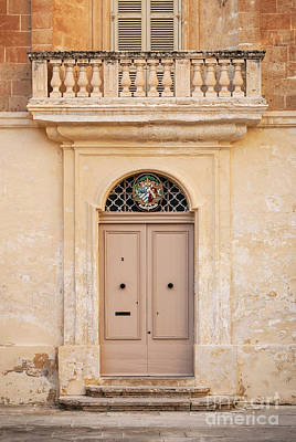 Red Roses - Door Architecture Detail In Mdina Old Town Of Rabat Malta by JM Travel Photography