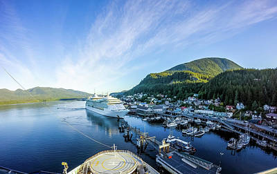 Photograph - Early Morning In Ketchikan Alaska Port by Alex Grichenko