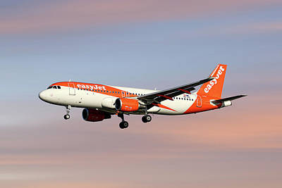 Mixed Media - Easyjet Airbus A320-214 by Smart Aviation