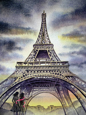 Painting - Eiffel Tower Paris by Irina Sztukowski