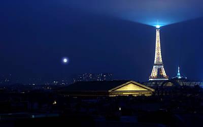 Landmark Digital Art - Eiffel Tower by Super Lovely