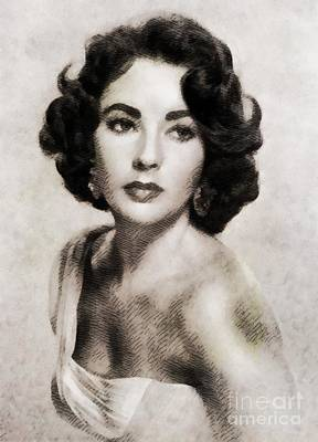 Garden Fruits - Elizabeth Taylor, Vintage Hollywood Legend by Esoterica Art Agency