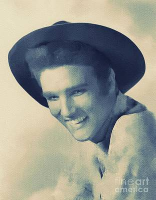 Rock And Roll Royalty-Free and Rights-Managed Images - Elvis Presley, Legend  by Mary Bassett
