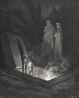 Engraving By Gustave Dore 1832-1883 Art Print by Vintage Design Pics