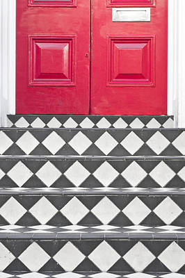 Chequered Photograph - Entrance Steps by Tom Gowanlock