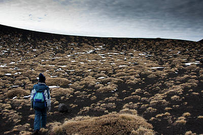 Etna, Red Mount Crater Art Print