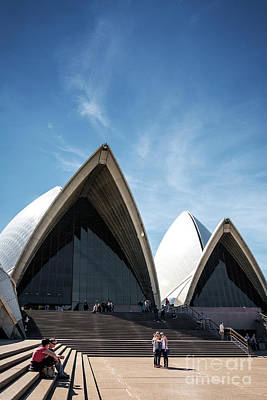 Photograph - Exterior Architecture Detail Of Sydney Opera House Landmark In A by Jacek Malipan