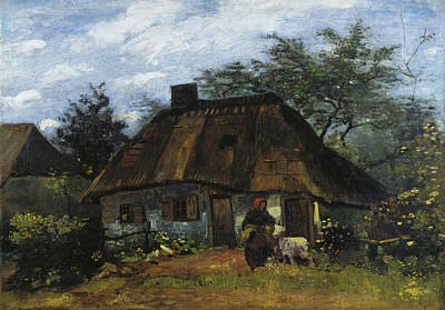 Painting - Farmhouse In Nuenen by Vincent van Gogh
