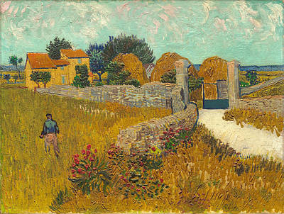 Agriculture Painting - Farmhouse In Provence by Vincent van Gogh