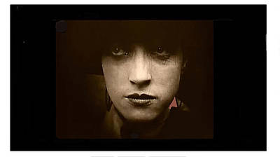 Photograph - Film Homage Billy Bitzer Miriam Cooper Intolerance 1916 Screen Capture Color Added 2012 by David Lee Guss