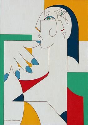 5 Fingers Art Print by Hildegarde Handsaeme