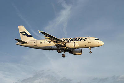 Mixed Media - Finnair Airbus A319-112 by Smart Aviation