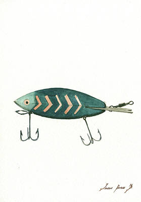Fishing Wall Art - Painting - Fishing Lure by Juan Bosco