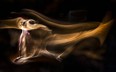 Photograph - Flame Art by Steven Poulton
