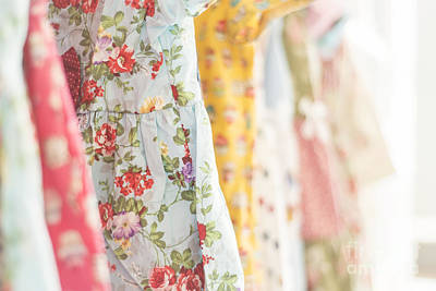 Photograph - Floral Pattern Young Girl Dresses In Shop by Jacek Malipan