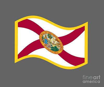 State Digital Art - Florida Flag by Frederick Holiday