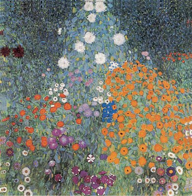 Photograph - Flower Garden by Gustav Klimt