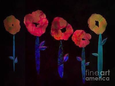 5 Flowers Art Print